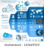 infographic elements   set of... | Shutterstock .eps vector #142669519