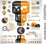 infographic elements   set of... | Shutterstock . vector #142669561
