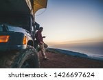 traveler people with car and... | Shutterstock . vector #1426697624