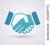 handshake icon | Shutterstock .eps vector #142669771