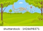 ferris wheel amusement park or... | Shutterstock .eps vector #1426698371