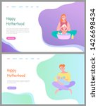 happy motherhood  mother... | Shutterstock .eps vector #1426698434