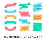 ribbons set of 12 bunners.... | Shutterstock . vector #1426711547