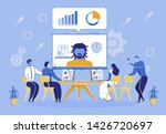 online conference with companys ... | Shutterstock .eps vector #1426720697