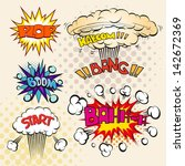 boom. comic book explosion set  ... | Shutterstock .eps vector #142672369