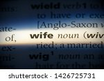 wife word in a dictionary. wife ... | Shutterstock . vector #1426725731