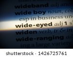 wide eyed word in a dictionary. ... | Shutterstock . vector #1426725761