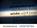 wide word in a dictionary. wide ... | Shutterstock . vector #1426725764