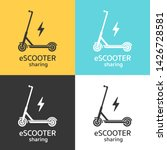 electric scooters sharing icon... | Shutterstock .eps vector #1426728581