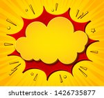 comics background. cartoon... | Shutterstock .eps vector #1426735877