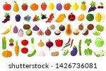flat design fresh raw fruits... | Shutterstock .eps vector #1426736081