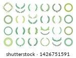 set of green silhouette laurel... | Shutterstock .eps vector #1426751591