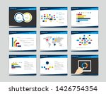 9 presentation business... | Shutterstock . vector #1426754354