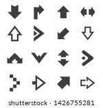 set of black arrow icons