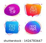 cogwheel  smile and like icons... | Shutterstock .eps vector #1426783667