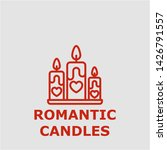 romantic candles symbol.... | Shutterstock .eps vector #1426791557