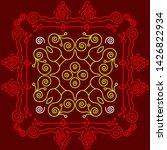 folk  tribal design  motif ... | Shutterstock .eps vector #1426822934