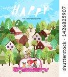 summer family happy holidays ... | Shutterstock .eps vector #1426825907