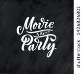 movie party lettering in... | Shutterstock .eps vector #1426826801