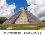 The Pyramid At Chichen Itza ...