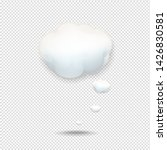 cloud icon isolated white... | Shutterstock . vector #1426830581