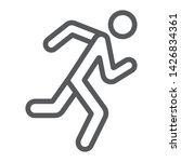 running man line icon  sport...   Shutterstock .eps vector #1426834361