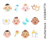 collection of simple vector... | Shutterstock .eps vector #1426844774