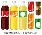 drinks juice cans pet bottle... | Shutterstock .eps vector #142684831