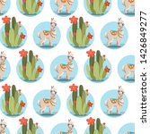 illustration with alpaca and... | Shutterstock .eps vector #1426849277