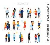 flat cartoon happy romantic...   Shutterstock .eps vector #1426885241
