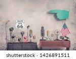 retro old microphones for press ... | Shutterstock . vector #1426891511