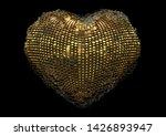 3d render of abstract 3d heart...   Shutterstock . vector #1426893947