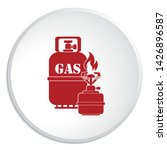 camping stove with gas bottle... | Shutterstock .eps vector #1426896587