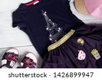 summer clothes for the girl. | Shutterstock . vector #1426899947