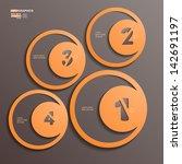 inforgraphic  1  2  3  4 | Shutterstock .eps vector #142691197