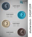 inforgraphic  1  2  3  4 | Shutterstock .eps vector #142691209