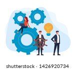 happy smiling boss lead his...   Shutterstock .eps vector #1426920734