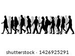group of people. crowd of... | Shutterstock . vector #1426925291