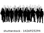 group of people. crowd of... | Shutterstock . vector #1426925294