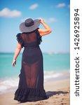 beautiful plus size adult woman ...   Shutterstock . vector #1426925894