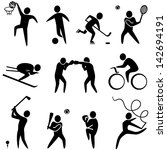 set of sports icons  basketball ... | Shutterstock .eps vector #142694191
