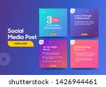 social media post template with ... | Shutterstock .eps vector #1426944461