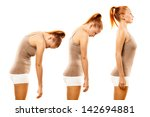 young woman practicing yoga...   Shutterstock . vector #142694881