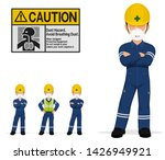 an isolated industrial worker... | Shutterstock .eps vector #1426949921
