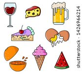 flat illustrations of food and...   Shutterstock .eps vector #1426966214