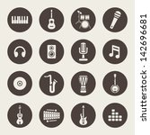 music icons | Shutterstock .eps vector #142696681