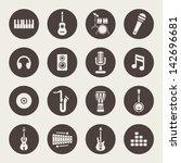 music icons | Shutterstock .eps vector #142696681