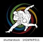 judo sport action cartoon... | Shutterstock .eps vector #1426969511