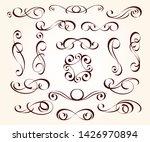 set of elegant decorative... | Shutterstock .eps vector #1426970894