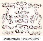 set of elegant decorative... | Shutterstock .eps vector #1426970897